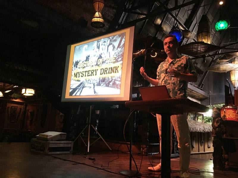 Presenting on the Mai-Kai stage for the book release