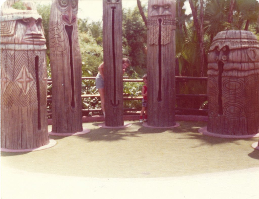 Jason T. Smith at Disney's Polynesian Village Resort 1974 3 years old!