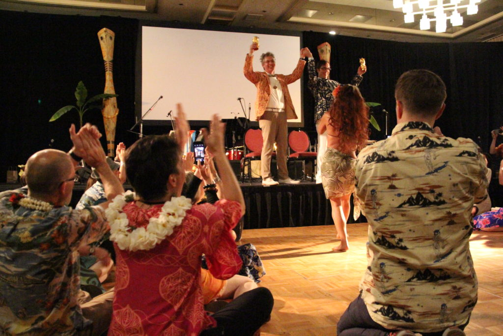 Greg and Justin's wedding at Tiki Kon 2017
