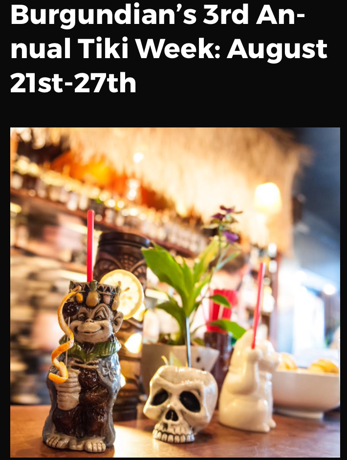 Tiki Week at the Burgundian 2017