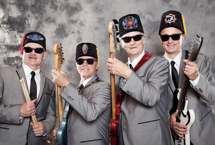 Surf Band wearing fez's
