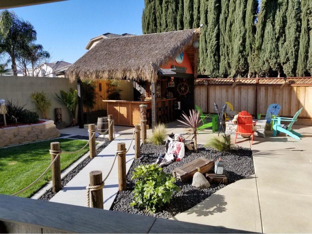 Home Tiki Bar Spotlight #37 The Blue Ka-Tiki - Salida CA ... on Tiki Bar Designs For Backyard id=95121